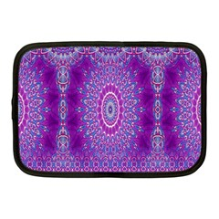 India Ornaments Mandala Pillar Blue Violet Netbook Case (medium)