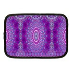 India Ornaments Mandala Pillar Blue Violet Netbook Case (Medium)  Front