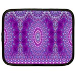 India Ornaments Mandala Pillar Blue Violet Netbook Case (Large) Front