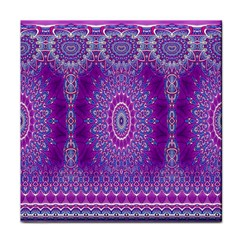 India Ornaments Mandala Pillar Blue Violet Face Towel