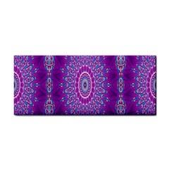 India Ornaments Mandala Pillar Blue Violet Hand Towel