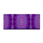 India Ornaments Mandala Pillar Blue Violet Hand Towel Front