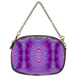 India Ornaments Mandala Pillar Blue Violet Chain Purses (One Side)  Front