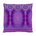 India Ornaments Mandala Pillar Blue Violet Standard Cushion Case (One Side) Front