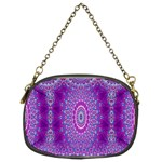 India Ornaments Mandala Pillar Blue Violet Chain Purses (Two Sides)  Front