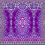 India Ornaments Mandala Pillar Blue Violet Mini Canvas 8  x 8  8  x 8  x 0.875  Stretched Canvas