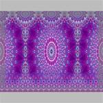 India Ornaments Mandala Pillar Blue Violet Canvas 16  x 12  16  x 12  x 0.875  Stretched Canvas