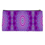 India Ornaments Mandala Pillar Blue Violet Pencil Cases Back