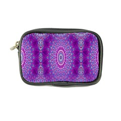 India Ornaments Mandala Pillar Blue Violet Coin Purse