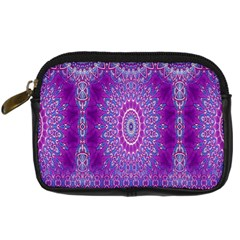 India Ornaments Mandala Pillar Blue Violet Digital Camera Cases