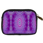 India Ornaments Mandala Pillar Blue Violet Digital Camera Cases Back