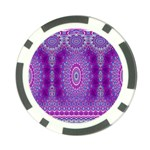 India Ornaments Mandala Pillar Blue Violet Poker Chip Card Guards (10 pack)  Front