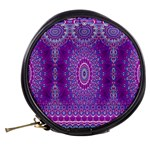 India Ornaments Mandala Pillar Blue Violet Mini Makeup Bags Back