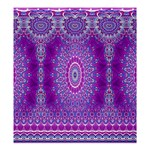 India Ornaments Mandala Pillar Blue Violet Shower Curtain 66  x 72  (Large)  58.75 x64.8 Curtain