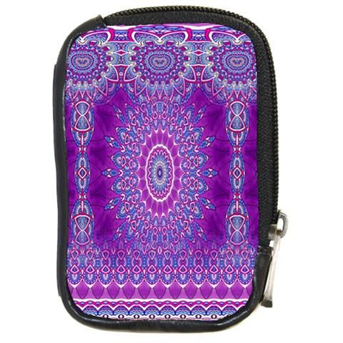 India Ornaments Mandala Pillar Blue Violet Compact Camera Cases