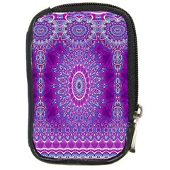 India Ornaments Mandala Pillar Blue Violet Compact Camera Cases