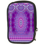 India Ornaments Mandala Pillar Blue Violet Compact Camera Cases Front