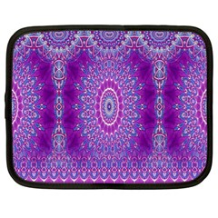 India Ornaments Mandala Pillar Blue Violet Netbook Case (XL)
