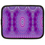 India Ornaments Mandala Pillar Blue Violet Netbook Case (XL)  Front