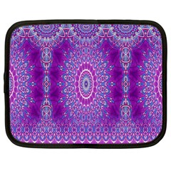 India Ornaments Mandala Pillar Blue Violet Netbook Case (XXL)