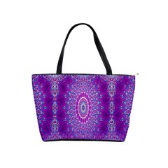 India Ornaments Mandala Pillar Blue Violet Shoulder Handbags