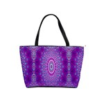 India Ornaments Mandala Pillar Blue Violet Shoulder Handbags Front