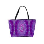 India Ornaments Mandala Pillar Blue Violet Shoulder Handbags Back