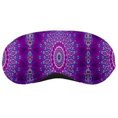 India Ornaments Mandala Pillar Blue Violet Sleeping Masks