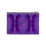 India Ornaments Mandala Pillar Blue Violet Cosmetic Bag (Medium)  Back