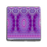 India Ornaments Mandala Pillar Blue Violet Memory Card Reader (Square) Front