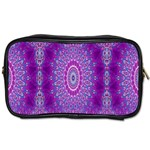 India Ornaments Mandala Pillar Blue Violet Toiletries Bags 2-Side Front
