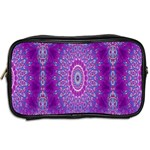 India Ornaments Mandala Pillar Blue Violet Toiletries Bags 2-Side Back
