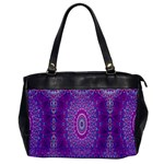 India Ornaments Mandala Pillar Blue Violet Office Handbags Front