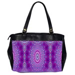 India Ornaments Mandala Pillar Blue Violet Office Handbags (2 Sides)  Back
