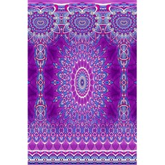 India Ornaments Mandala Pillar Blue Violet 5 5  X 8 5  Notebooks