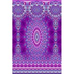 India Ornaments Mandala Pillar Blue Violet 5.5  x 8.5  Notebooks Back Cover Inside