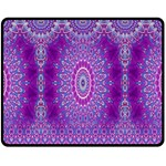 India Ornaments Mandala Pillar Blue Violet Fleece Blanket (Medium)  60 x50 Blanket Front