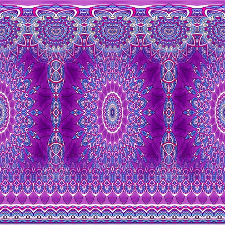 India Ornaments Mandala Pillar Blue Violet Magic Photo Cubes