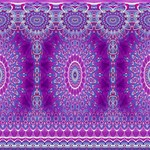 India Ornaments Mandala Pillar Blue Violet Magic Photo Cubes Side 3