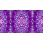 India Ornaments Mandala Pillar Blue Violet Magic Photo Cubes Long Side 1