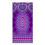 India Ornaments Mandala Pillar Blue Violet Shower Curtain 36  x 72  (Stall)  36 x72 Curtain