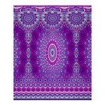 India Ornaments Mandala Pillar Blue Violet Shower Curtain 60  x 72  (Medium)  54.25 x65.71 Curtain