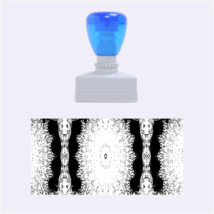India Ornaments Mandala Pillar Blue Violet Rubber Stamps (Medium)