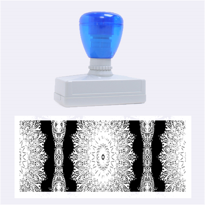 India Ornaments Mandala Pillar Blue Violet Rubber Stamps (Large)