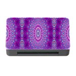 India Ornaments Mandala Pillar Blue Violet Memory Card Reader with CF Front