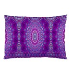 India Ornaments Mandala Pillar Blue Violet Pillow Case (Two Sides) Back