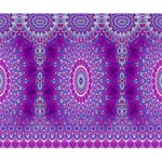 India Ornaments Mandala Pillar Blue Violet Deluxe Canvas 14  x 11  14  x 11  x 1.5  Stretched Canvas