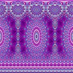 India Ornaments Mandala Pillar Blue Violet Happy Birthday 3D Greeting Card (8x4) Inside