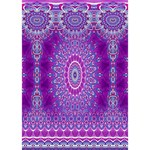 India Ornaments Mandala Pillar Blue Violet GIRL 3D Greeting Card (7x5) Inside
