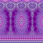 India Ornaments Mandala Pillar Blue Violet Twin Heart Bottom 3D Greeting Card (8x4) Inside